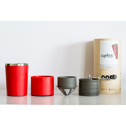 CACK RD Cafflano Klassic Red All in one Pour over Coffee Maker part Eco Friendly Single Serve Coffee Maker