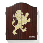 Winmau Dartboard Cabinet Rosewood with Lion