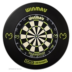 Winmau 1-PC MvG Black/Green Dartboard Surround